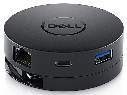 Adaptador Universal Dell Mobile DA300 - USB-C 3.1 (Tipo C) para HDMI, VGA, DisplayPort, RJ45 Gigabit, USB Tipo C e USB 3.0
