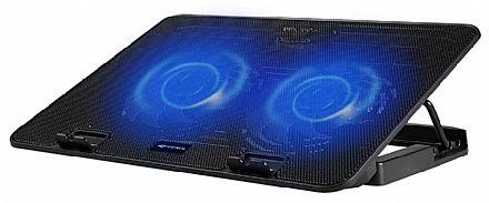 """Suporte para Notebook C3 Tech - até 15.6"""" - com LED - 5 Níveis de Altura - 2 Portas USB - NBC-50BK"""