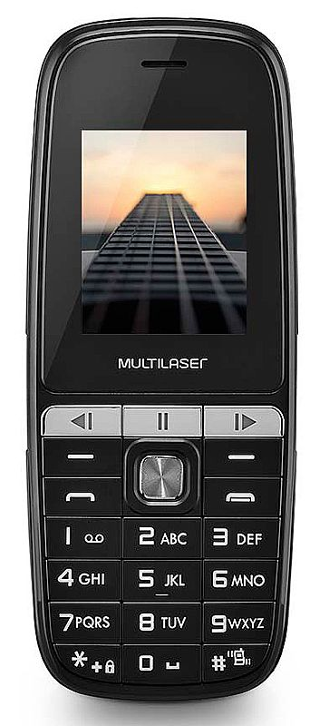 "Celular Multilaser Up Play Dual Chip - Tela 1.8"", Câmera, MP3, Rádio FM - P9076 - Preto"