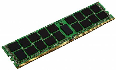 Memória 16GB DDR4 2400MHz Kingston ECC para Servidor - (RDIMM) Registered - KVR24R17D8/16