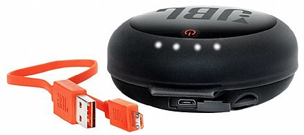 Case Carregadora JBL para Fones de Ouvido Bluetooth - Preta - JBLHPCCBLK