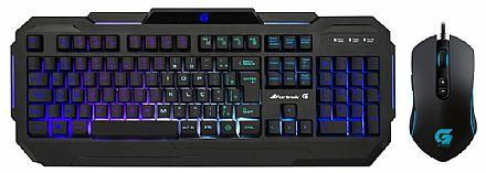Kit Teclado e Mouse Gamer Fortrek - Teclado K1 + Mouse Pro M7 - ABNT2 - Teclas Multimídia - 4800dpi - 8 Botões - LED RGB
