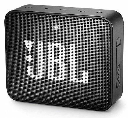 Caixa de Som Portátil JBL GO 2 - À prova D`Água - Bluetooth - 3W - Preto - JBLGO2BLKBR