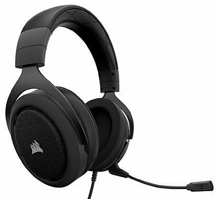 Headset Corsair Gaming HS60 Surround - Áudio 7.1 Surround - Conector 3.5mm - Compatível com PC / PS4 / Xbox One / Switch - Preto - CA-9011173-NA
