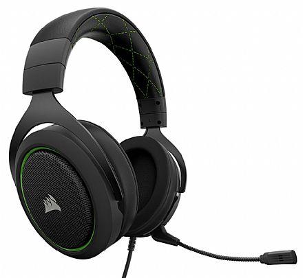 Headset Corsair Gaming HS50 - com Controle de Volume - Conector 3.5mm - Verde - CA-9011171-NA