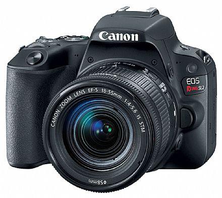 Canon EOS Rebel SL2 Profissional com Lente 18-55 - 24.2 Mega Pixels - Sensor CMOS APS-C - DIGIC 7 - Wi-Fi, NFC e Bluetooth - Vídeo Full HD