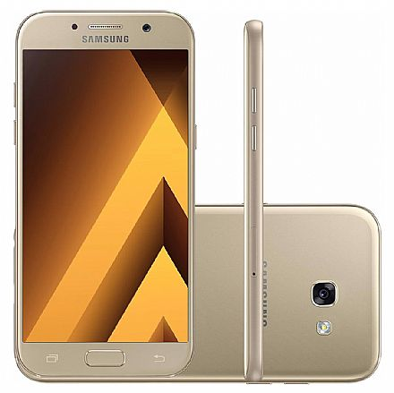 "Smartphone Samsung Galaxy A5 2017 - Tela 5.2"" Full HD Super AMOLED, Dual Chip, 32GB, Octa Core, Câmera 16MP - Dourado - SM-A520F"