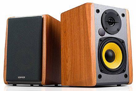 Caixa de Som 2.0 Edifier R1010BT - Bluetooth - 24W RMS - Acabamento em Madeira