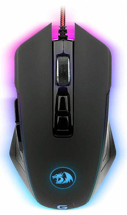 Mouse Gamer Radragon Dagger Chroma M715 - 10000dpi - com LED RGB - 7 Botões Programáveis