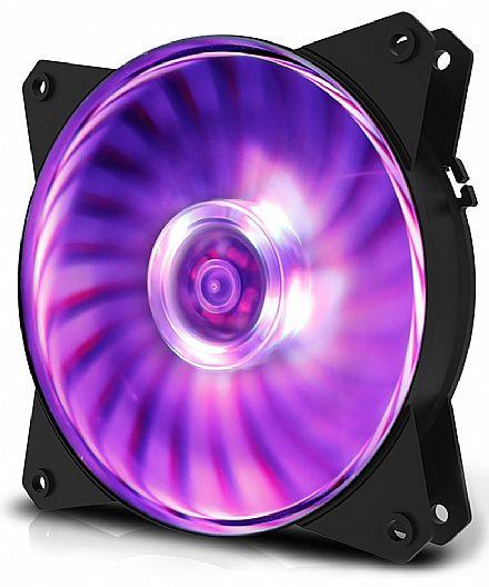 Cooler 120x120mm Cooler Master MasterFan MF120L - com LED RGB - R4-C1DS-12FC-R1 - *Necessário controlador RGB/Placa Mãe compatível
