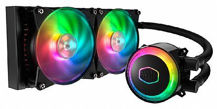Water Cooler Cooler Master MasterLiquid ML240R - (AMD / Intel) - com LED RGB - MLX-D24M-A20PC-R1