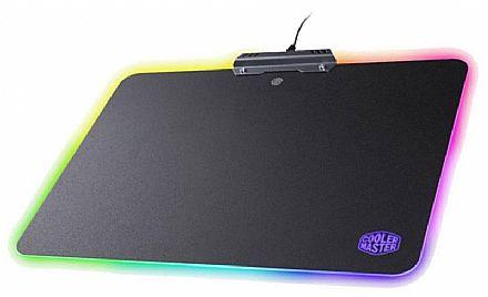 Mouse Pad Cooler Master Hard Gaming - com Iluminação RGB - Médio - 350 x 264 x 2mm - MPA-MP720