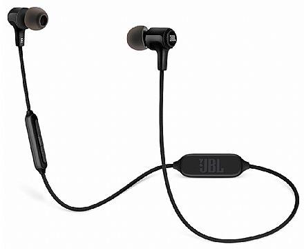 Fone de Ouvido Bluetooth Intra-Auricular JBL E25BT - Cabo em Tecido - Preto - JBLE25BTBLK