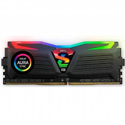 Memória 8GB DDR4 3000MHz Geil Super Luce RGB - 1.2V - CL16 - GLS48GB3000C16ASC