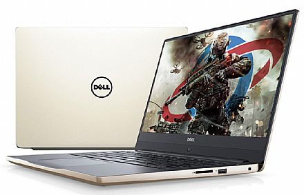 "Notebook Dell Inspiron i14-7472-A20G - Tela 14"" Infinita Full HD, Intel i7 8550U, 16GB, HD 1TB, GeForce MX150 4GB, Windows 10 - Gold"