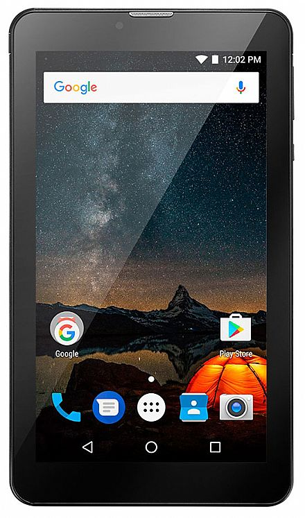 "Tablet Multilaser M7S Plus - Tela 7"", Quad Core, 8GB, Wi-Fi, Android - Preto - NB273"