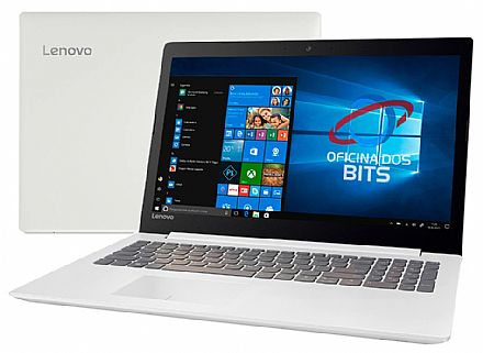 "Notebook Lenovo Ideapad 330 - Tela 15.6"", Intel i5 8250U, 12GB, SSD 240GB, Intel UHD Graphics 620, Windows 10 - Branco - 81FE000EBR"