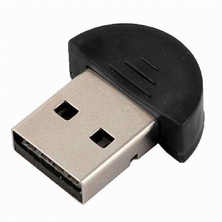 Adaptador Bluetooth 4.0 Mini - USB 2.0 - Alcance de até 20 metros