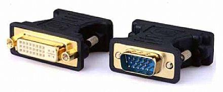 Adaptador Conversor VGA para DVI-I - 24+5 Pinos - (VGA M X DVI-I F)