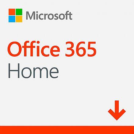 Microsoft Office 365 Home - Licença Anual para 6 usuários + 1 TB de One Drive por usuário - PC, Mac, iOS e Android - Versão Download - 6GQ-00088