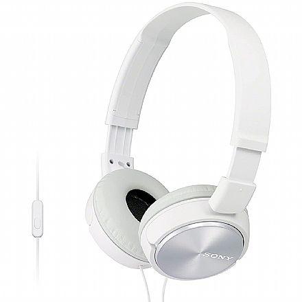 Fone de Ouvido Sony ZX310 - com Microfone - Conector 3.5mm - Branco - MDRZX310AP BR