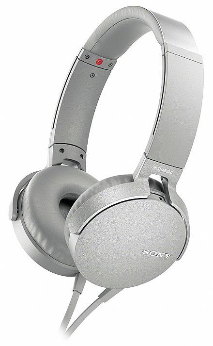 Fone de Ouvido Sony XB550 - com Microfone - Conector 3.5mm - Branco - MDRXB550AP/WBR