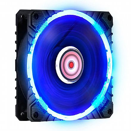 Cooler 120x120mm PCYes Calafrio - LED Azul - FCAL120LDAZ