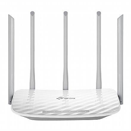 Roteador Wi-Fi TP-Link Archer C60 AC1350 - Versão 2.0 - Tecnologias Beamforming e MIMO - Dual Band 2.4GHz e 5 GHz - 5 Antenas