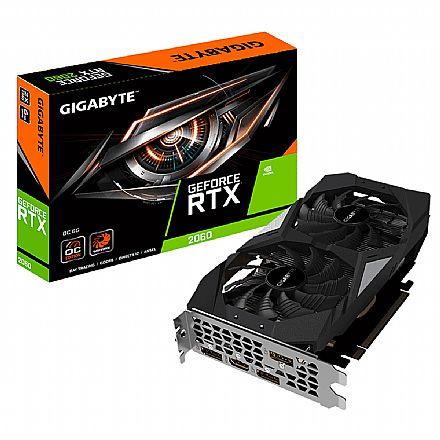 GeForce RTX 2060 6GB GDDR6 192bits - Windforce OC Edition - Gigabyte GV-N2060OC-6GD