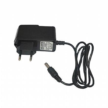 Fonte 12V 1A - Plug P4 5,5 x 2,1mm - Bivolt - para CFTV - FC1201