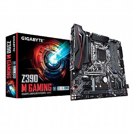 Gigabyte Z390 M GAMING (LGA 1151 - DDR4 4266 O.C) - Chipset Intel Z390 - 8ª e 9ª Geração - USB 3.1 Tipo C - Slot M.2 - Micro ATX
