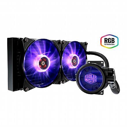 Water Cooler Cooler Master MasterLiquid Pro 280 - (AMD / Intel) - com LED RGB - MLY-D28M-A22PC-R1