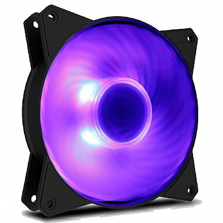 Cooler 120x120mm Cooler Master MasterFan MF120R - com LED RGB - R4-C1DS-20PC-R1 - *Necessário controlador RGB/Placa Mãe compatível