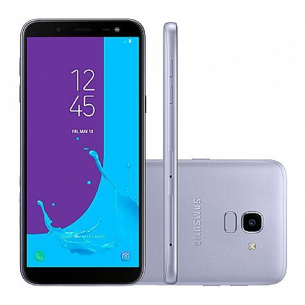 "Smartphone Samsung Galaxy J6 - Tela 5.6"" Super AMOLED, 32GB, Dual Chip 4G, 13MP, TV Digital - Prata - J600GT"