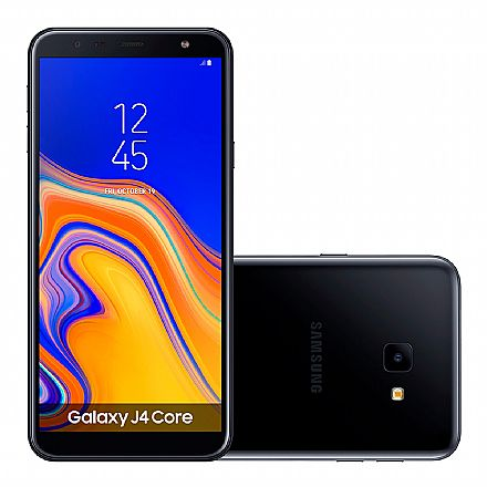 "Smartphone Samsung Galaxy J4 Core - Tela 6"" HD+, 16GB, Dual Chip 4G, Câmera 8MP - Preto - SM-J410G - Open Box"