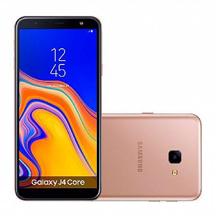 "Smartphone Samsung Galaxy J4 Core - Tela 6"" HD+, 16GB, Dual Chip 4G, Câmera 8MP - Cobre - SM-J410G - Open Box"