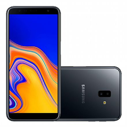 "Smartphone Samsung Galaxy J6+ - Tela 6"" HD+, 32GB, Dual Chip 4G, Câmera Dupla 13MP + 5MP - Preto - J610G - Open Box"