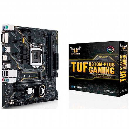 Asus TUF H310M PLUS GAMING/BR (LGA 1151 - DDR4 2666) - Chipset Intel H310 - USB 3.1 - Slot M.2 - Micro ATX