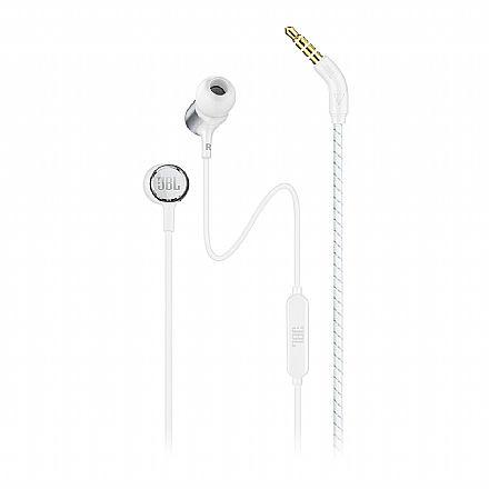 Fone de Ouvido Intra-Auricular JBL Live 100 - com Microfone - Conector 3.5mm - Branco e Cinza - JBLLIVE100WHT