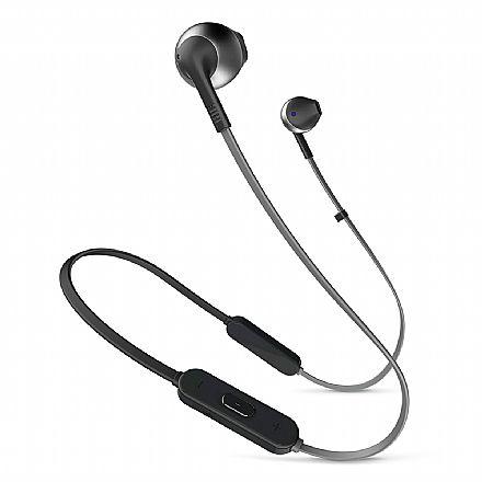 Fone de Ouvido Bluetooth Auricular JBL Tune 205BT - com Microfone - Preto - JBLT205BTBLK