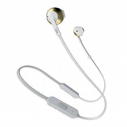 Fone de Ouvido Bluetooth Auricular JBL Tune 205BT - com Microfone - Champagne Gold - JBLT205BTCGD