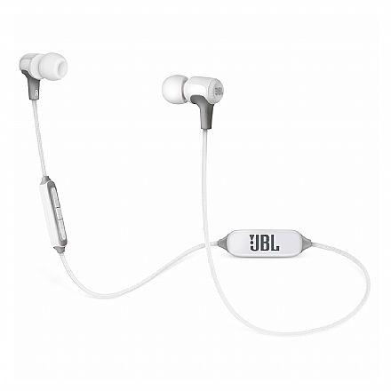 Fone de Ouvido Bluetooth Intra-Auricular JBL E25BT - Cabo em Tecido - Branco - JBLE25BTWHT