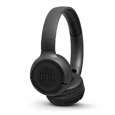 Fone de Ouvido Bluetooth JBL Tune T500 - Dobrável - com Microfone - Preto - JBLT500BTBLK