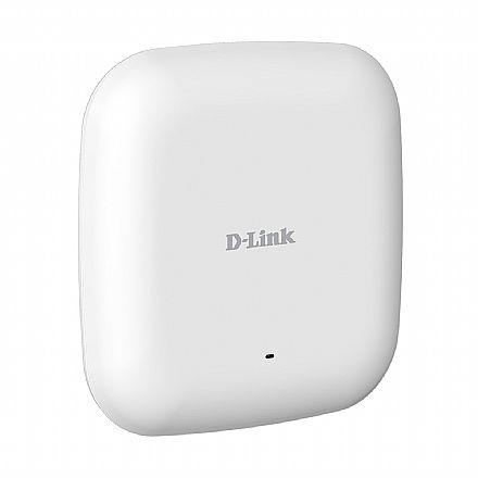 Access Point Corporativo D-Link DAP-2610 AC1300 - Dual Band 2.4 GHz e 5 GHz - PoE- Tecnologias Wave 2, MU-MIMO, Beamforming, Band Steering - 2 Antenas de 3dBi - Montável em Teto ou Parede