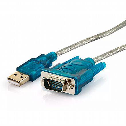 Cabo Conversor USB para Serial DB9 (RS232) - 1,5 metros