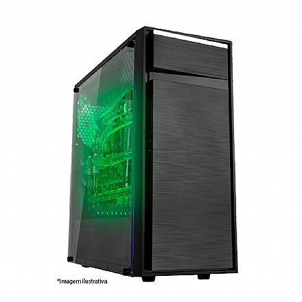 Servidor Bits - AMD Ryzen 2700, 16GB DDR4, HD 1TB + SSD 240GB, Fonte 80 PLUS®, FreeDos - Garantia 1 ano na Loja