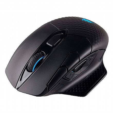 Mouse Gamer Wireless Corsair Dark Core - 16000dpi - 9 Botões Programáveis - LED RGB - CH-9315211-NA