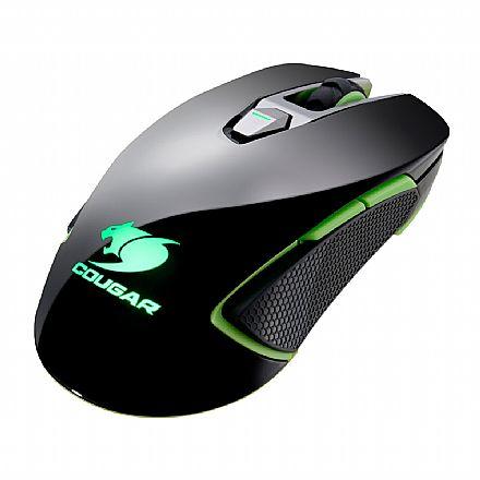 Mouse Gamer Cougar 450M Black Edition - 5000dpi - 8 botões programáveis - Sensor PMW3310DH - Verde - CGR-WOMB-450