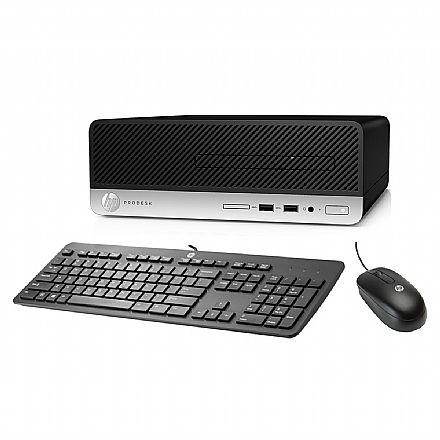 Computador HP ProDesk 400 G5 - Intel Core i3-8100, 4GB, HD 500GB + SSD 240GB, Windows 10 Pro, Kit Teclado e Mouse - 5LA53LA