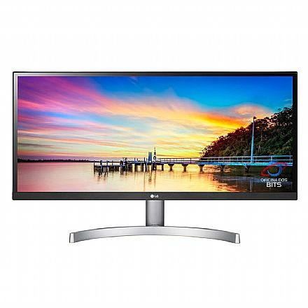 "Monitor 29"" LG 29WK600 - IPS Full HD UltraWide - com HDR - 5ms - Som integrado - Suporte VESA - DisplayPort/HDMI"